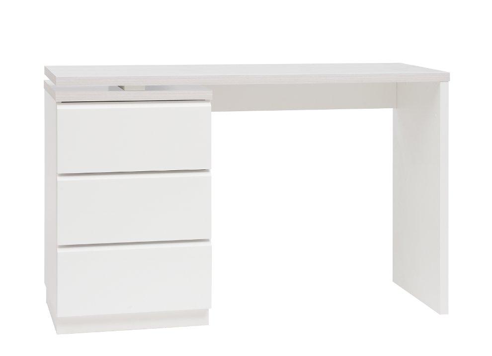 Line työpöytä + kapea laatikosto valkoinen/saarni