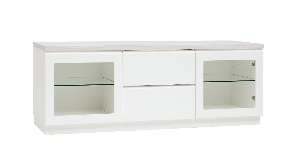 Line 11, taso 2 lasiovea + 2 laatikkoa valkoinen/saarni