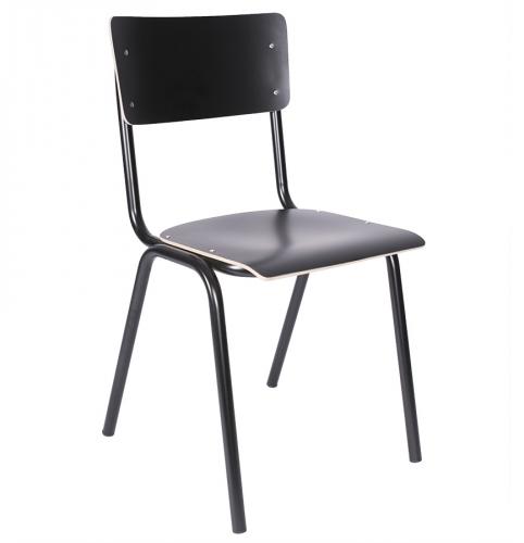 Sally tuoli musta runko/musta laminaatti
