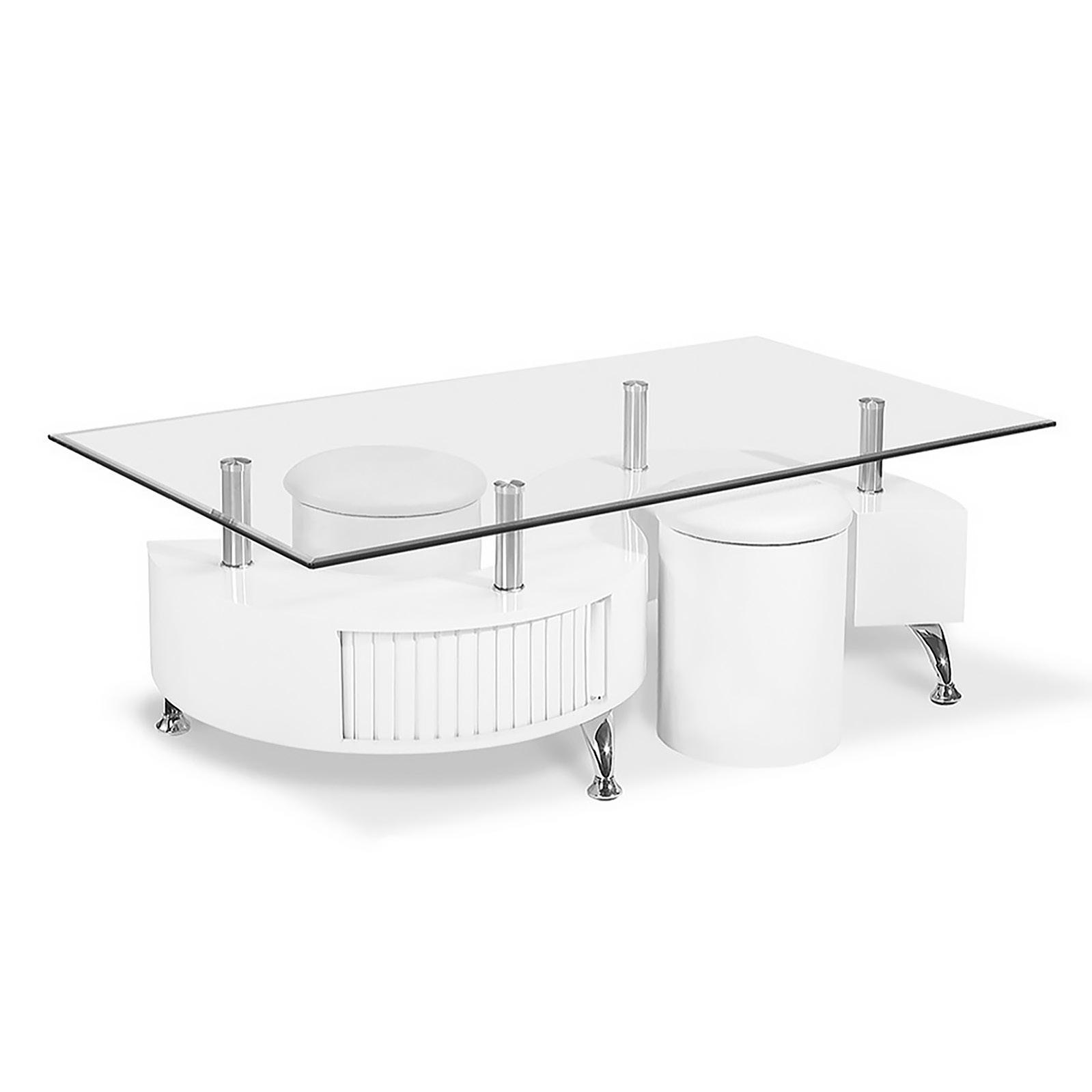 Cubio sohvapöytä kiiltävä valkoinen, Tenstar