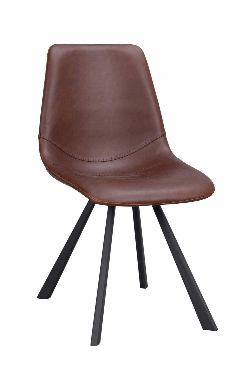Auburn tuoli ruskea PU/musta metalli, Rowico