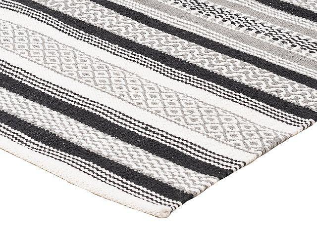 Suvi matto 140 x 200 musta/harmaa
