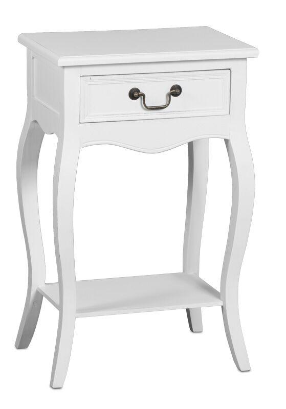 Romantic yöpöytä 1-ltk rustik valkoinen, Tenstar