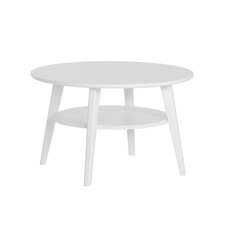 Kodikas sohvapöytä pyöreä Ø75 valkoinen