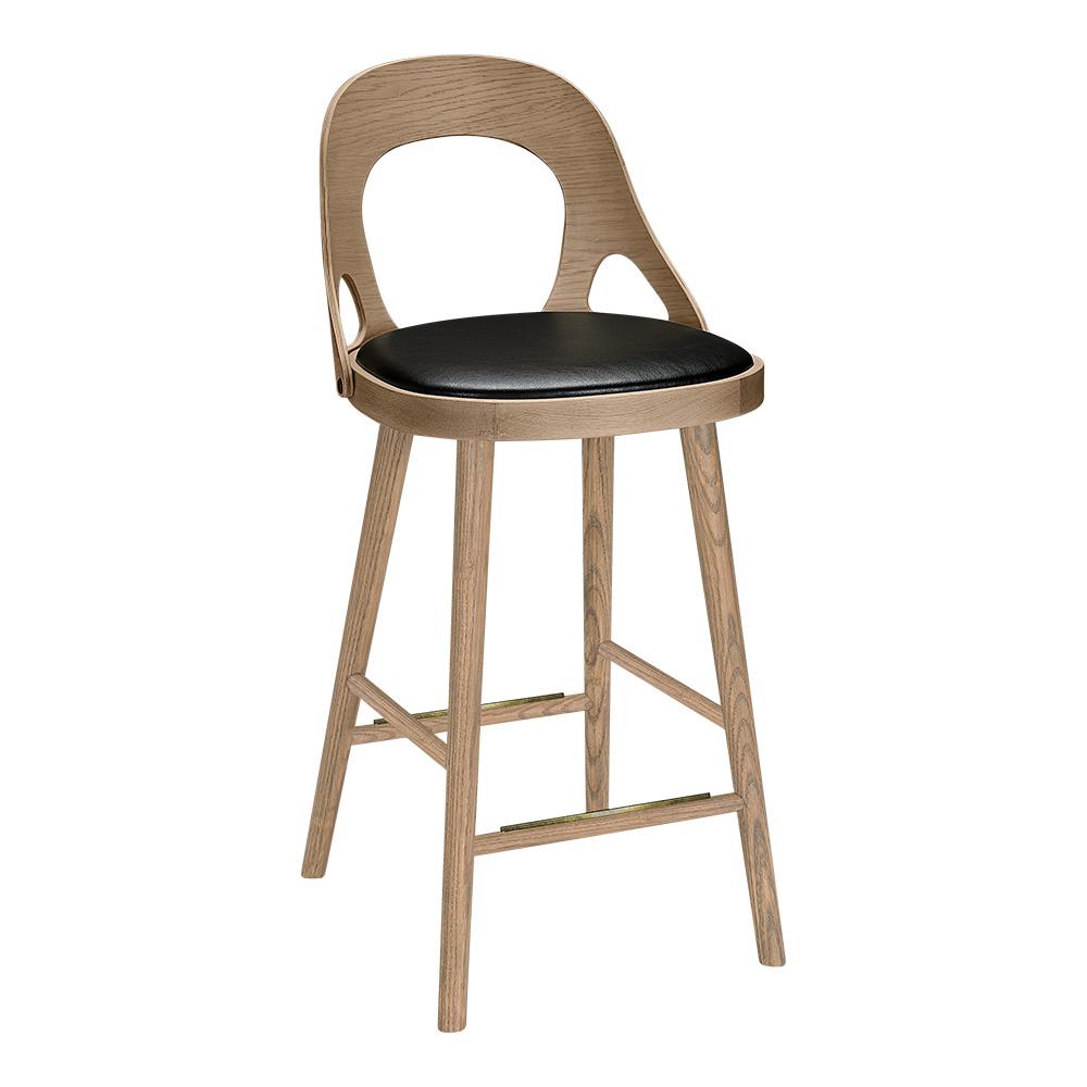 Colibri baarituoli 63 harmaa tammi, bonded musta, Design Markus Johansson