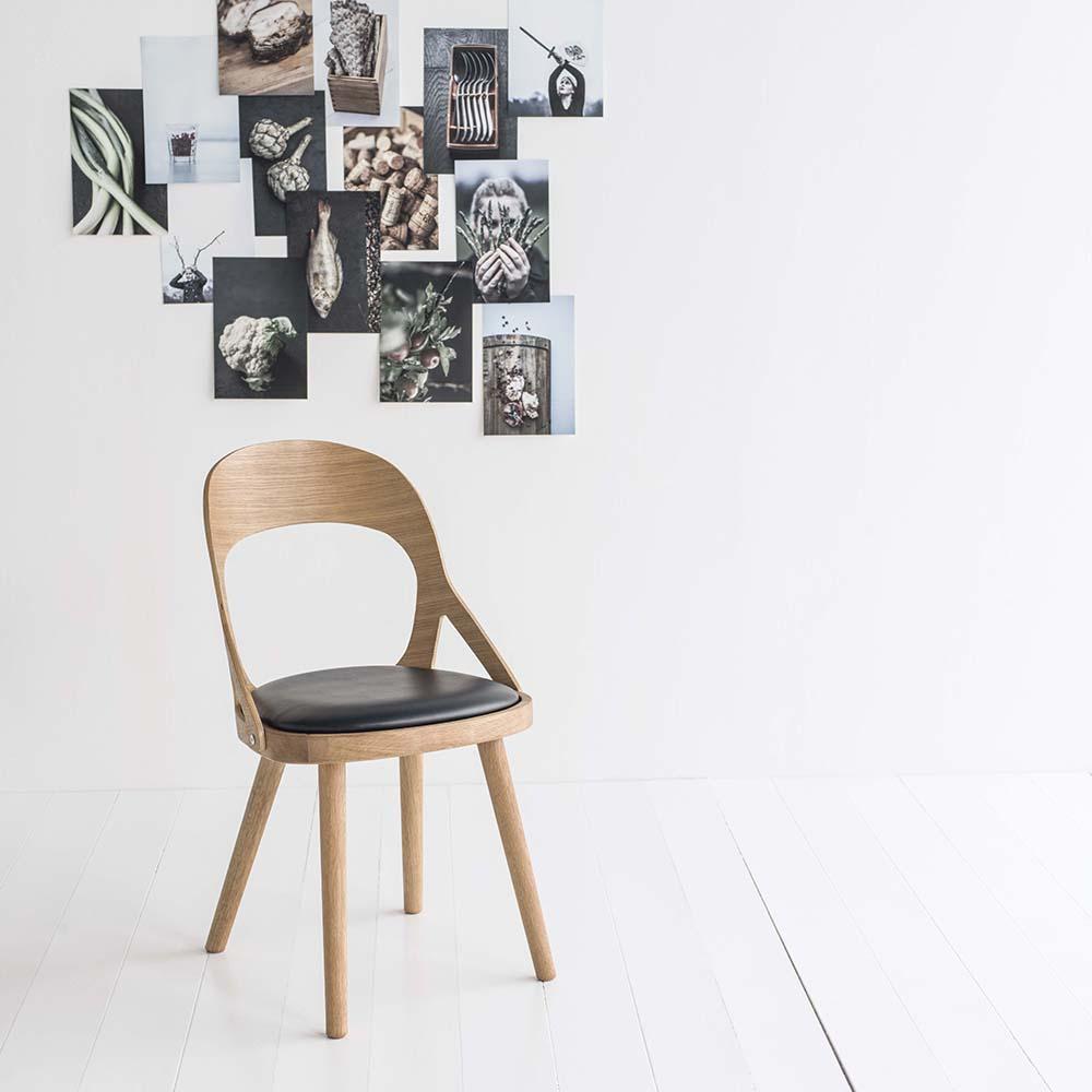 Colibri tuoli öljytty tammi, bonded musta, Design Markus Johansson