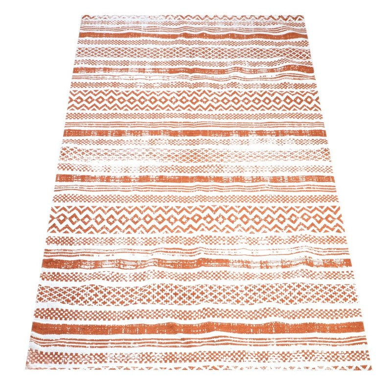 Maya matto 80 x 200 oranssivalkoinen