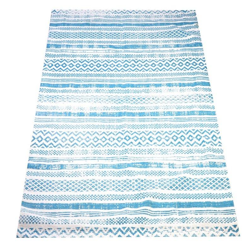 Maya matto 80 x 200 sinivalkoinen