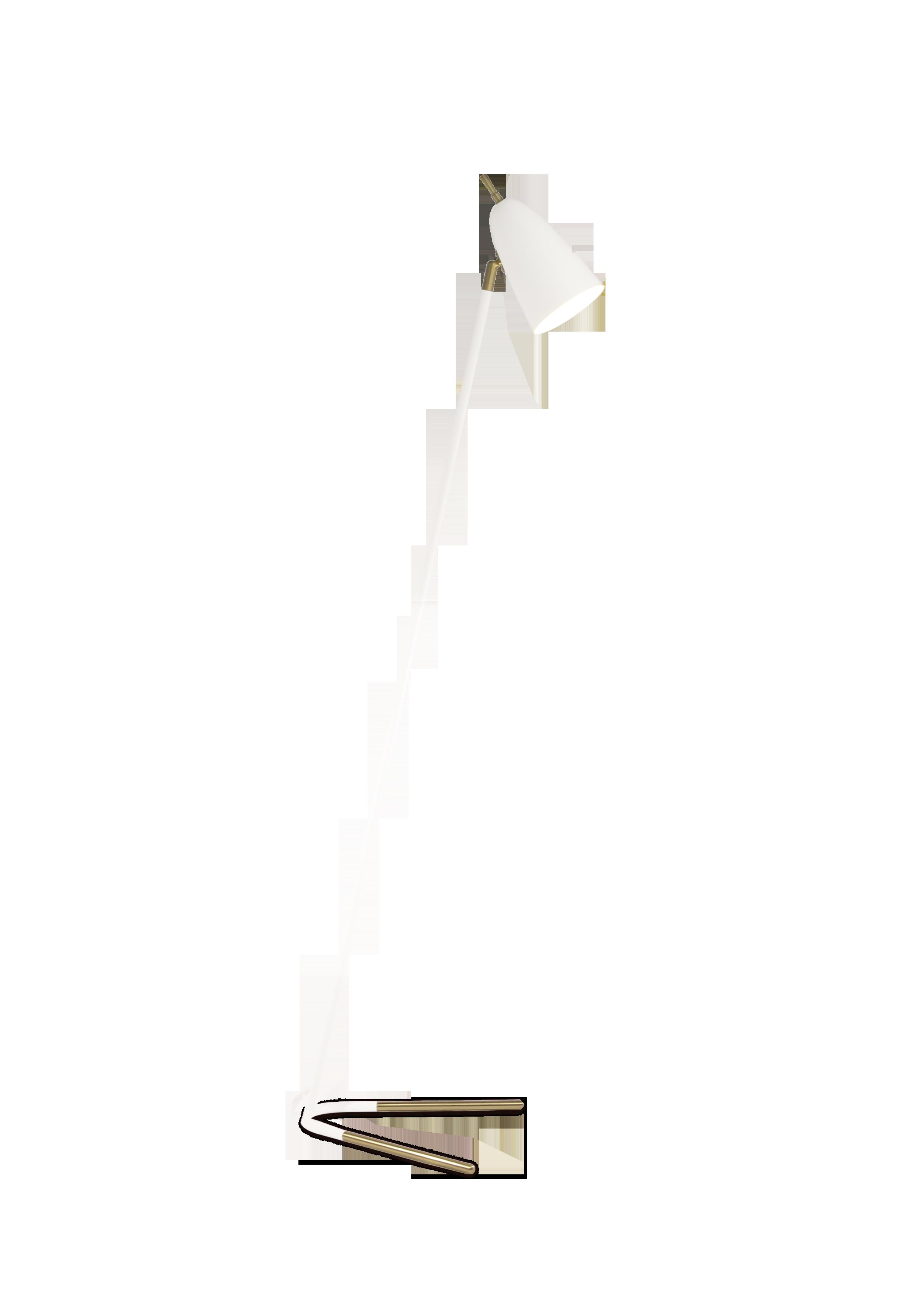 Aiden lattiavalaisin, valkoinen