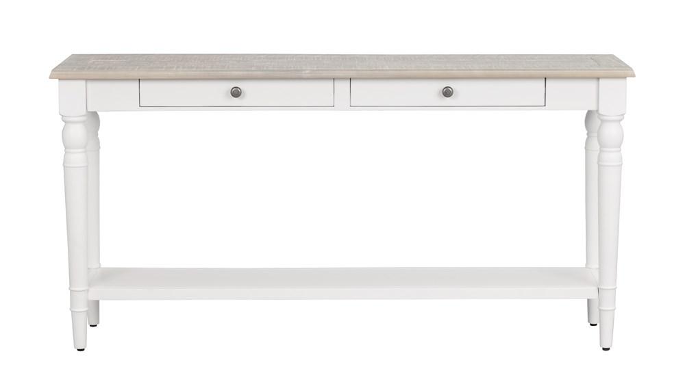 Lorient sivupöytä valkoinen/harmaa