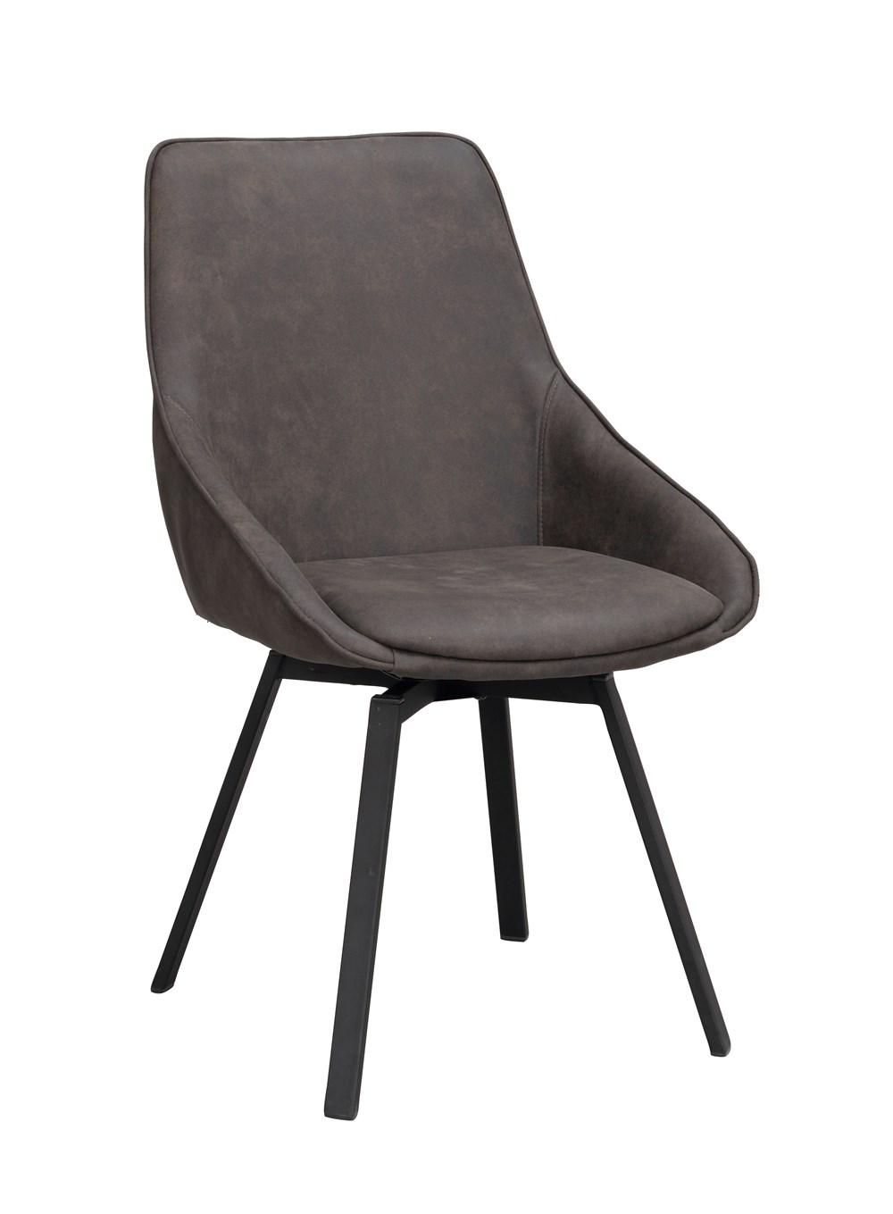 Alison tuoli tummanharmaa/musta, Rowico