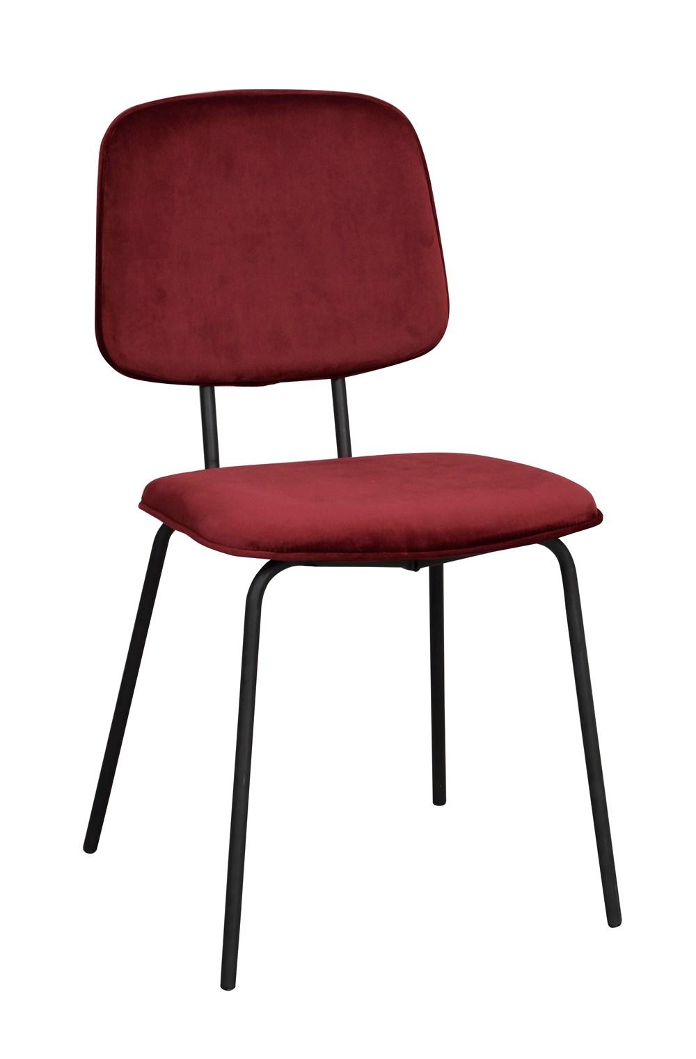 Baldwin tuoli punainen/musta, Rowico