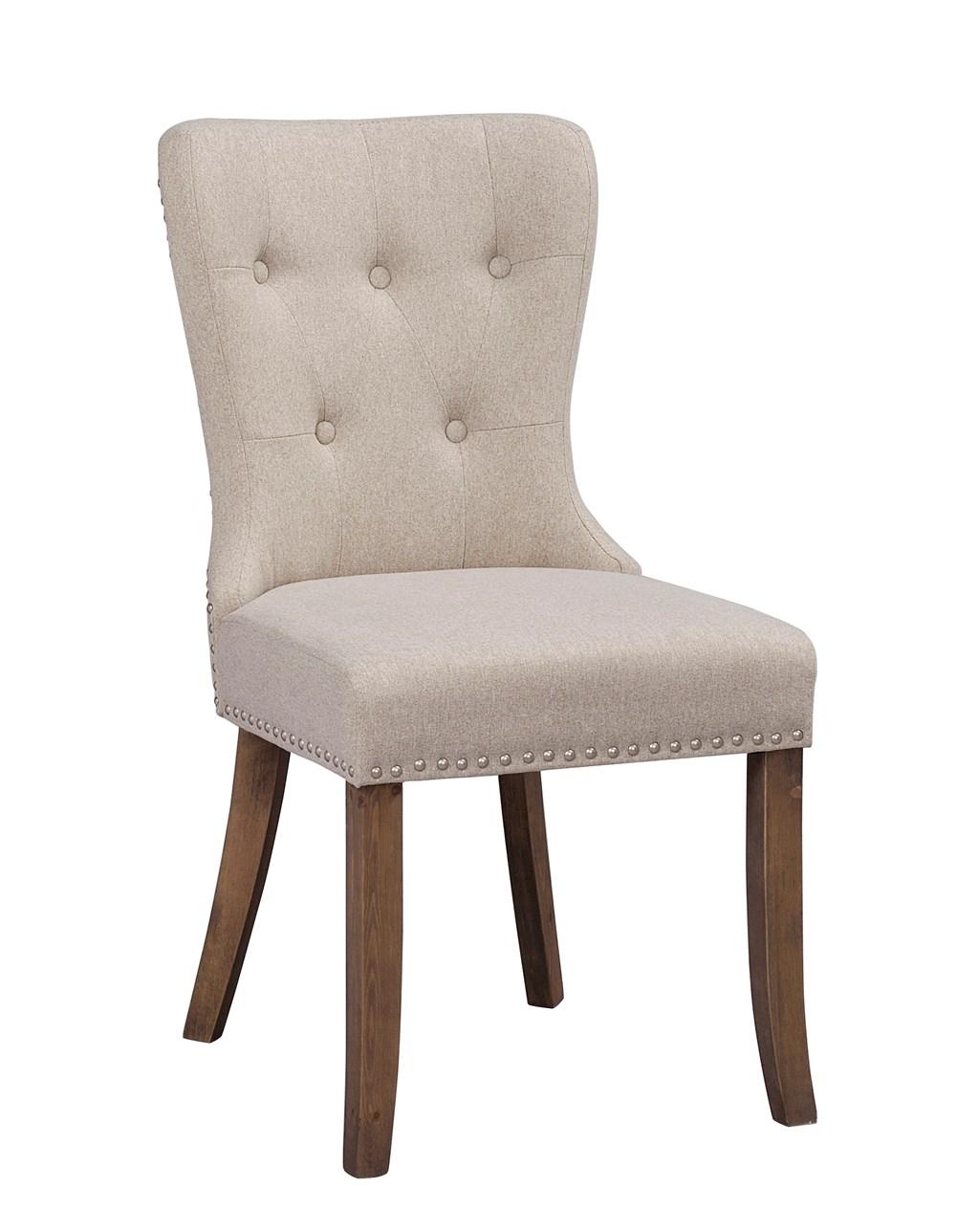 Adele tuoli beige kangas/vintage jalat, Rowico
