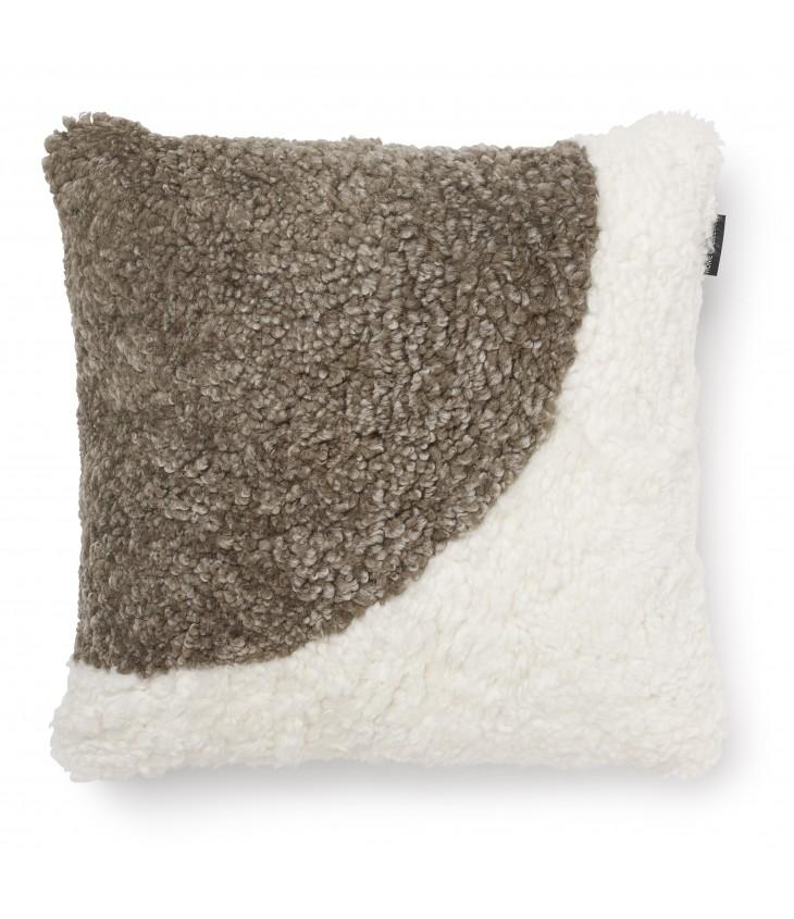 Curly koristetyynyn päällinen 45x45 valkoinen/sahara MOON00