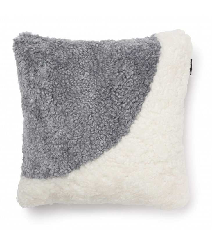 Curly koristetyynyn päällinen 45x45 valkoinen/charcoal MOON01