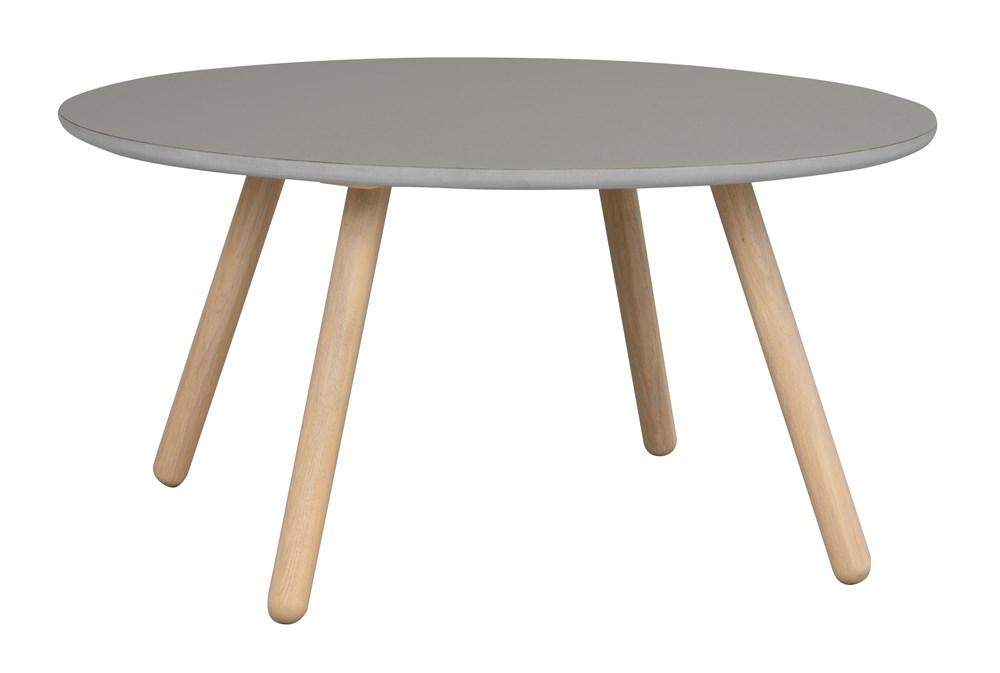 Russel sohvapöytä pyöreä 90 harmaa/valkolakattu tammi, Rowico