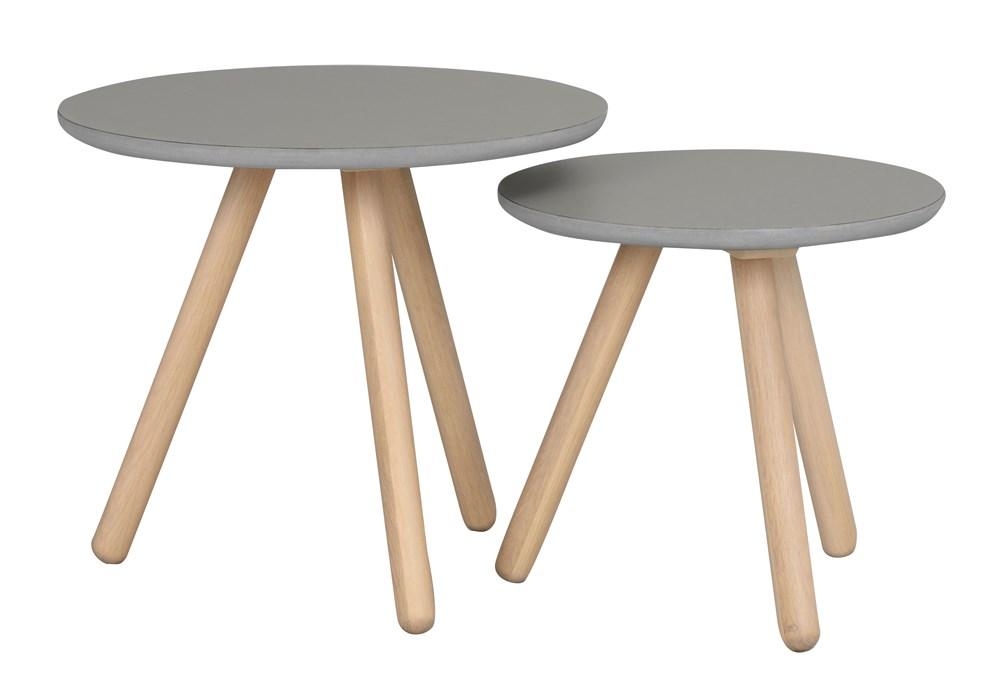 Russel sarjapöytä harmaa/valkolakattu tammi, Rowico
