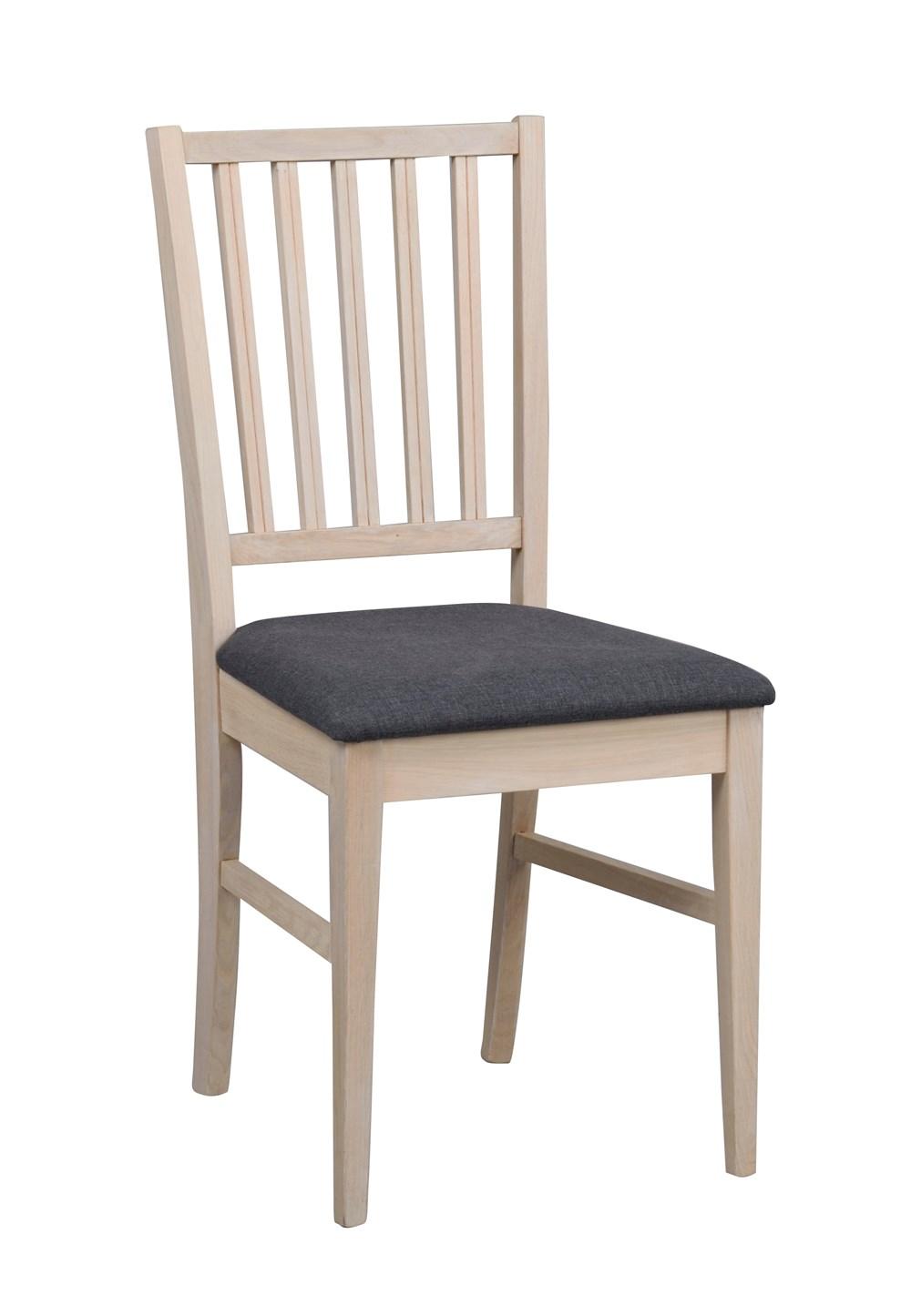 Filippa tuoli kuultovalkoinen tammi/harmaa kangas, Rowico