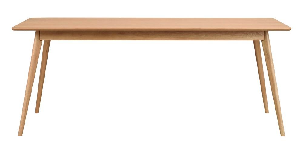 Yumi ruokapöytä 190x90 lakattu tammi, Rowico