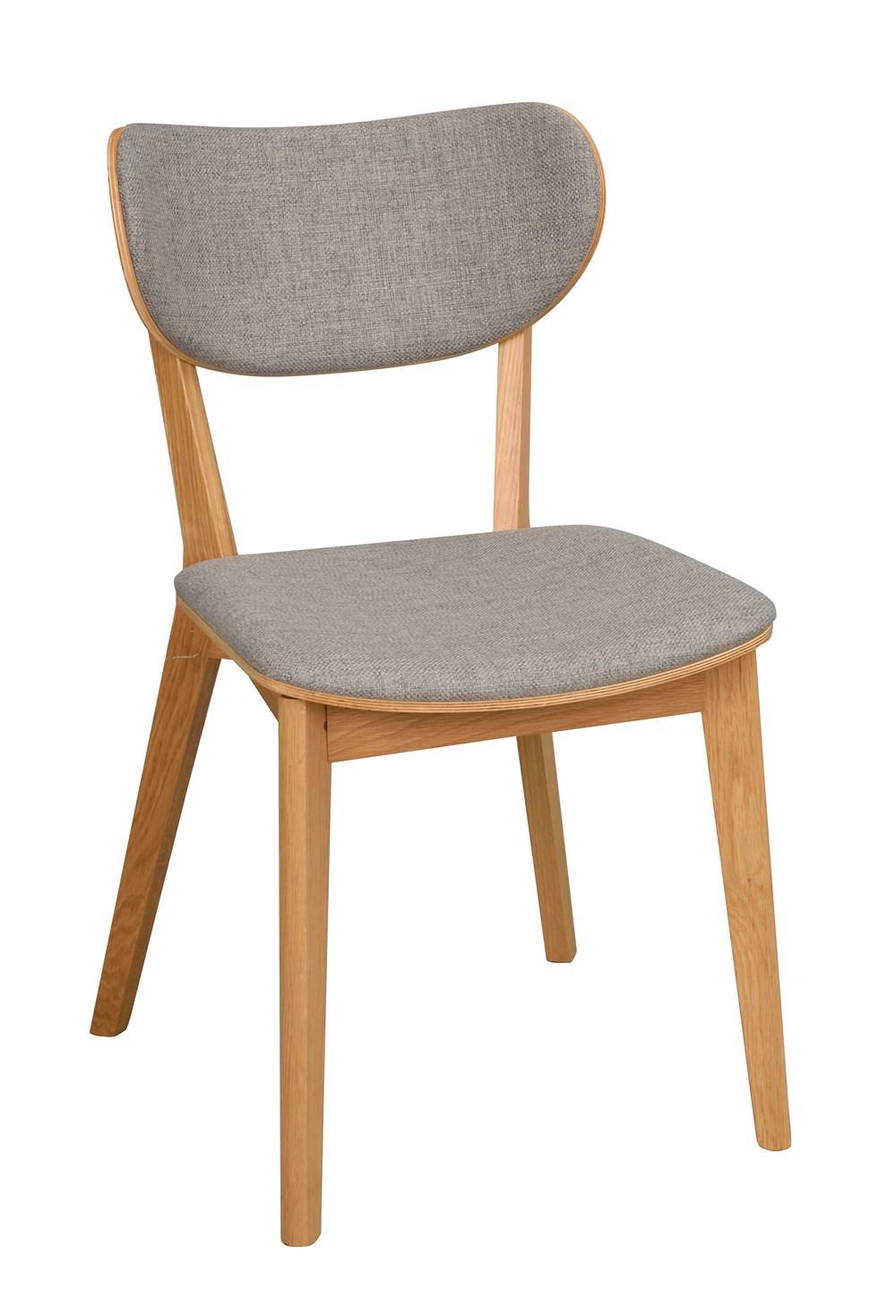 Kato tuoli lakattu tammi / vaaleanharmaa, Rowico