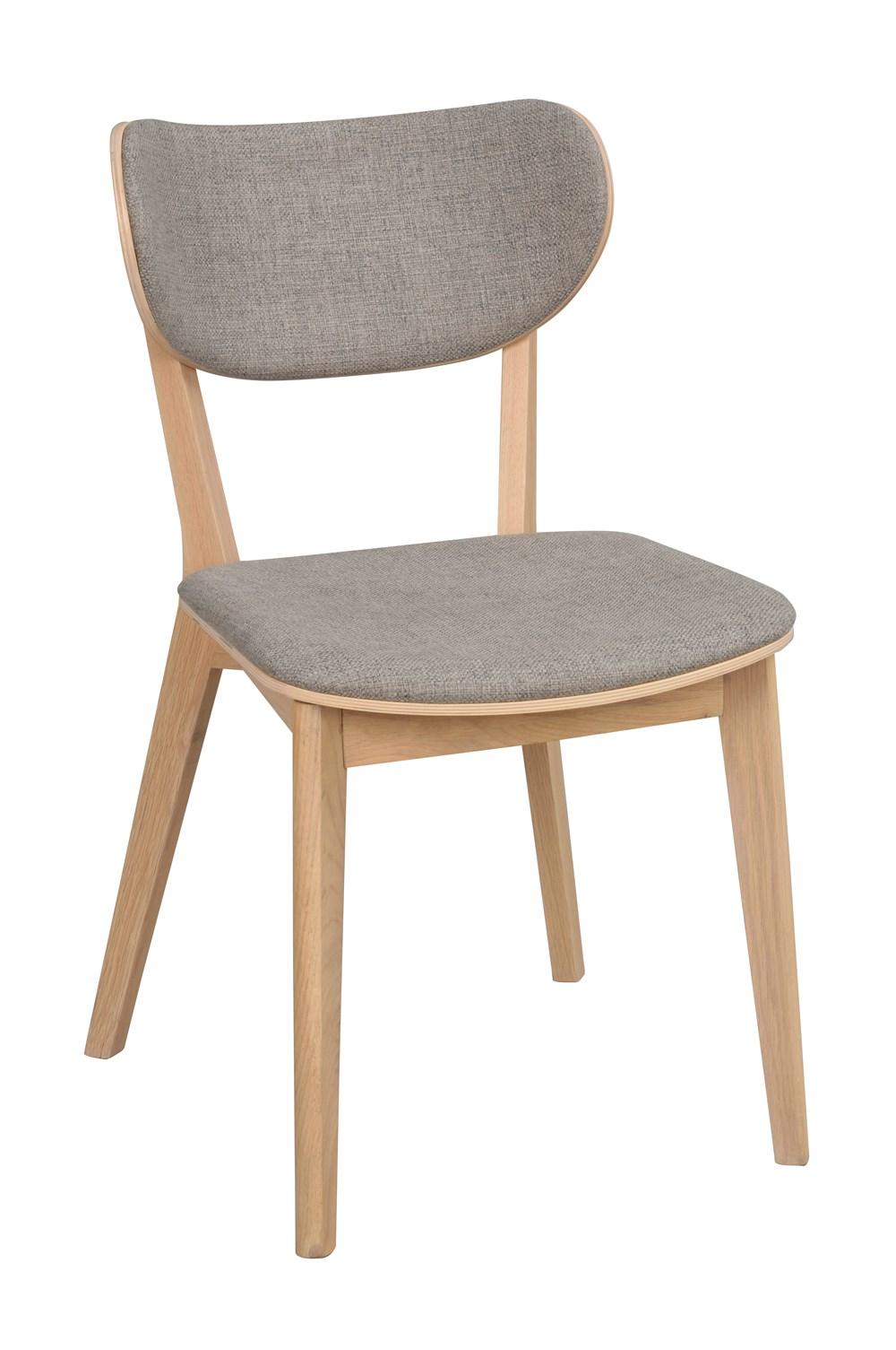Kato tuoli valkolakattu tammi / vaaleanharmaa, Rowico