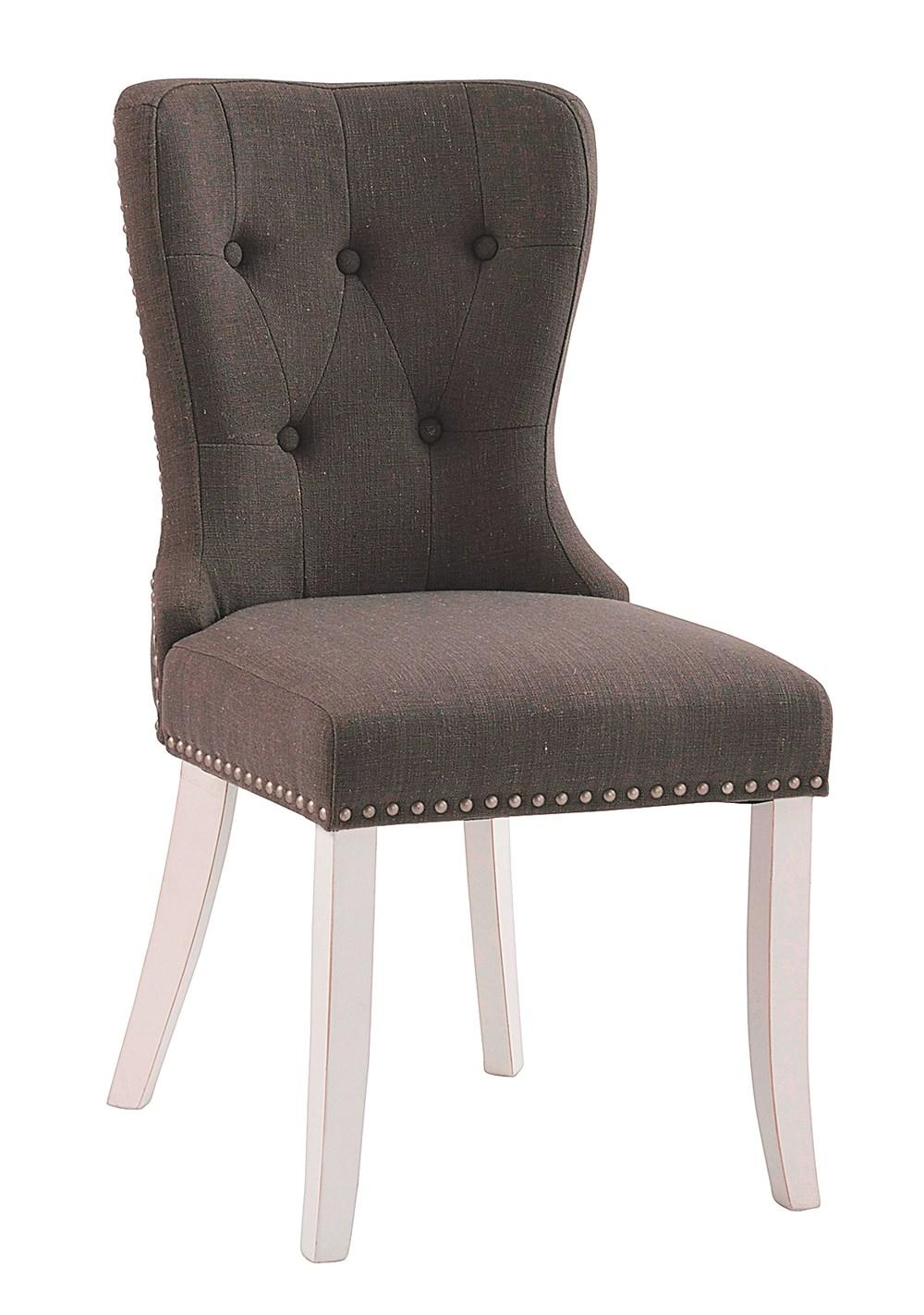 Adele tuoli harmaa kangas/valkoiset jalat, Rowico