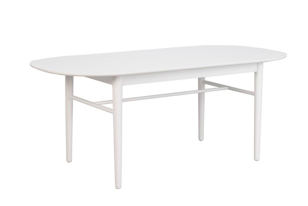 Akita ruokapöytä 190 ovaali valkoinen, Rowico