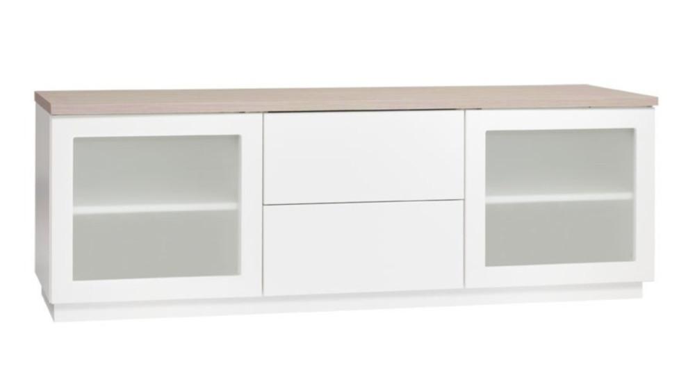 Anton A5.5 TV-taso 150 maitolasi, valkoinen/tammi