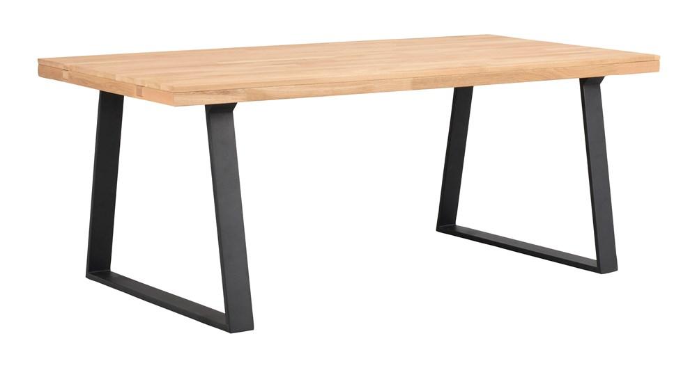 Brooklyn pöytä 170x95 tammi/U-jalka musta, Rowico