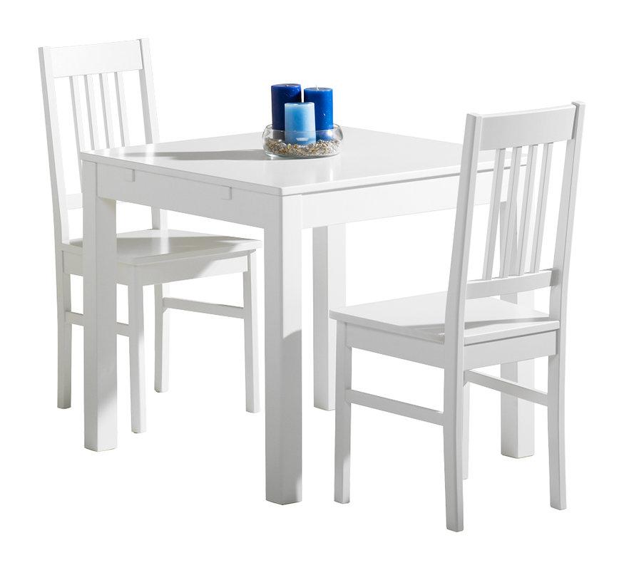Emilia pöytä 80x80 valkoinen