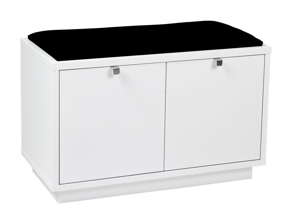 Confetti penkki 2L valkoinen/musta kangas, Rowico