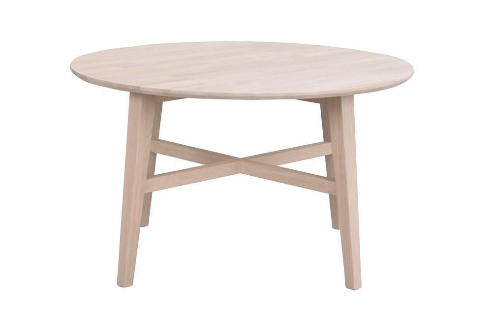 Filippa sohvapöytä pyöreä Ø90 valkolakattu tammi, Rowico