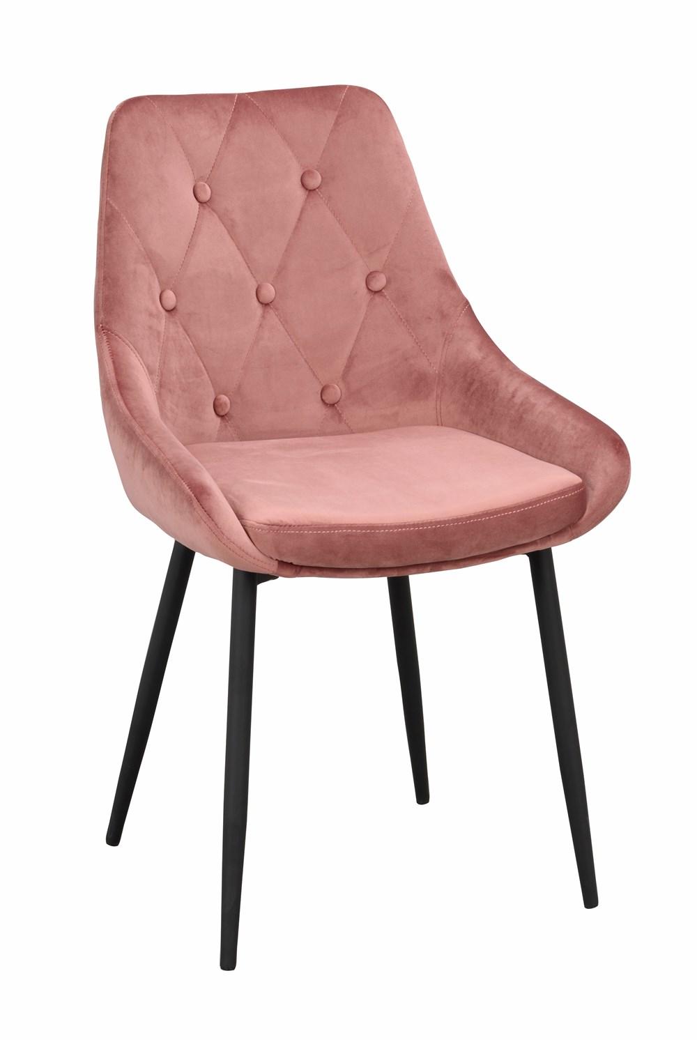 Alberton tuoli pinkki sametti/musta metalli, Rowico