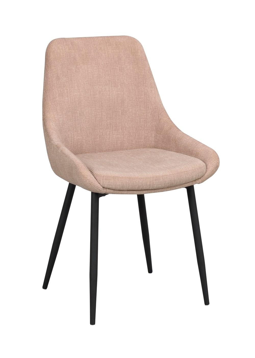 Sierra tuoli beige vakosametti / musta metalli, Rowico