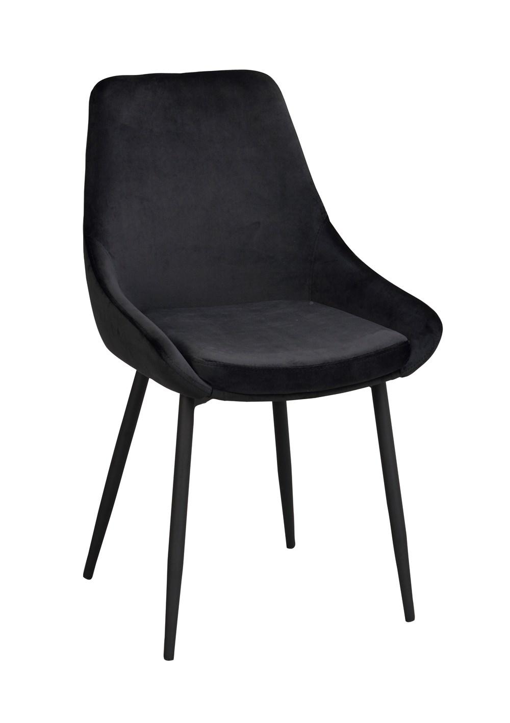 Sierra tuoli musta sametti / musta metalli, Rowico