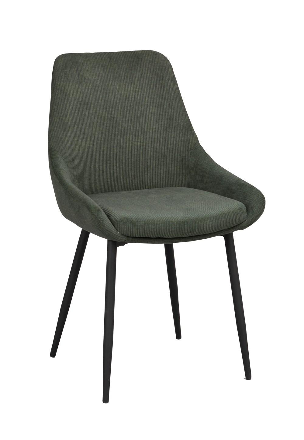 Sierra tuoli vihreä vakosametti / musta metalli, Rowico