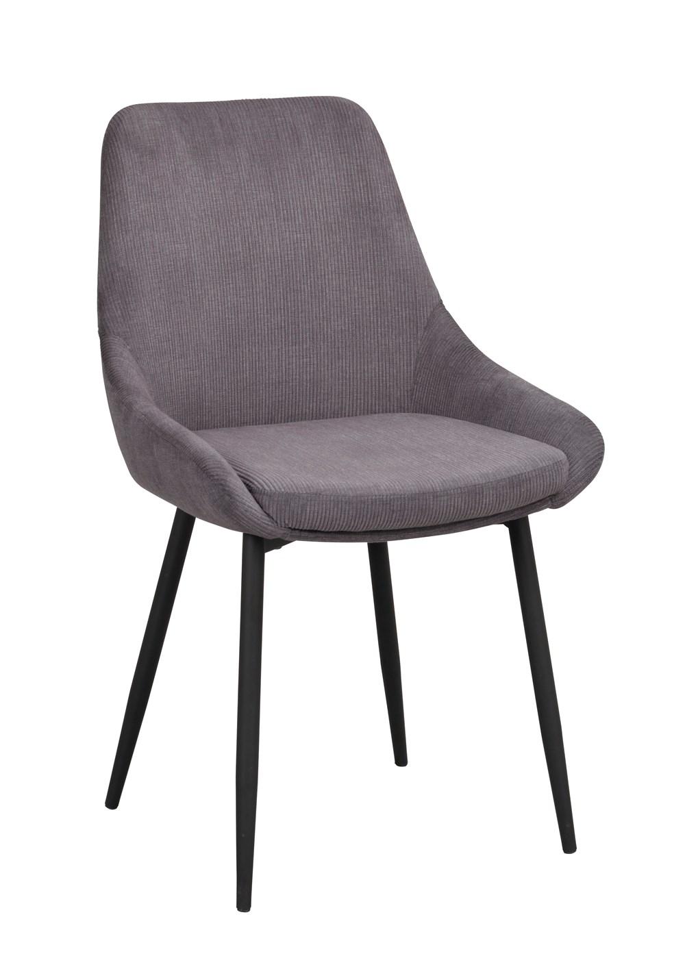 Sierra tuoli harmaa vakosametti / musta metalli, Rowico
