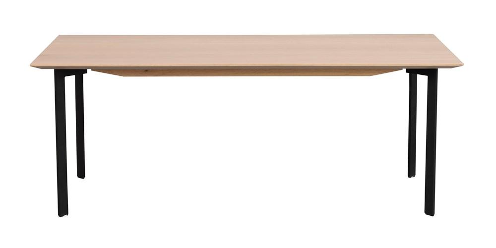 Spencer sohvapöytä 120x60 valkolakattu tammi/musta, Rowico