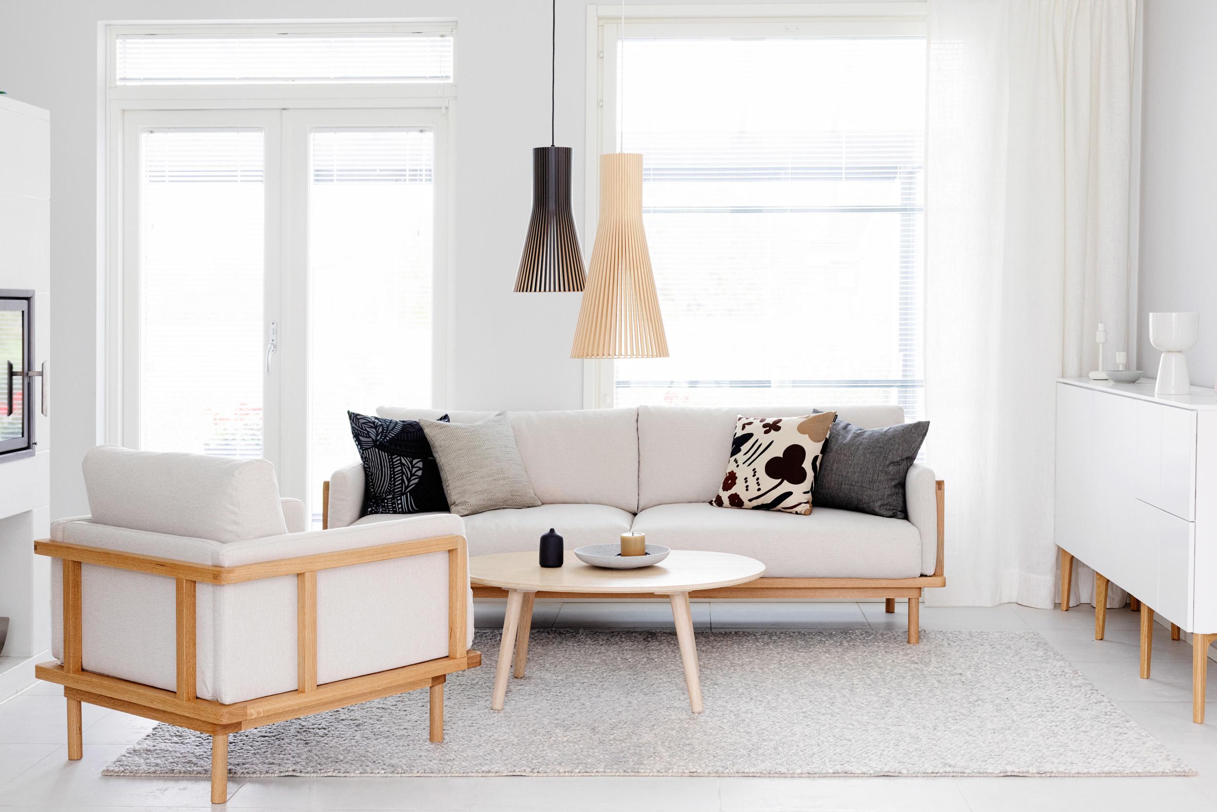 Framework 3-istuttava sohva tammi puut / Stark kangas