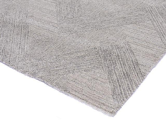 Hanki matto 160 x 230 luonnonvalkoinen/harmaa
