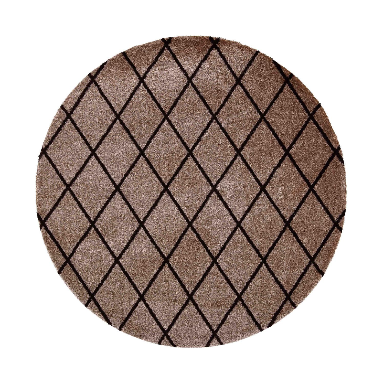 VM Carpet pyöreä Salmiakki matto 06 beige-black