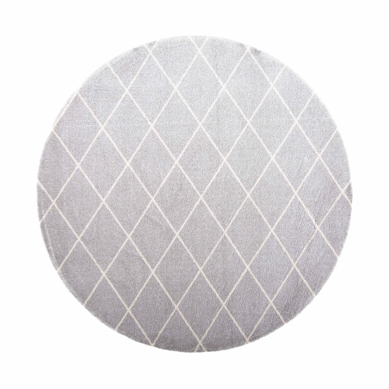 VM Carpet pyöreä Salmiakki matto 08 grey-white