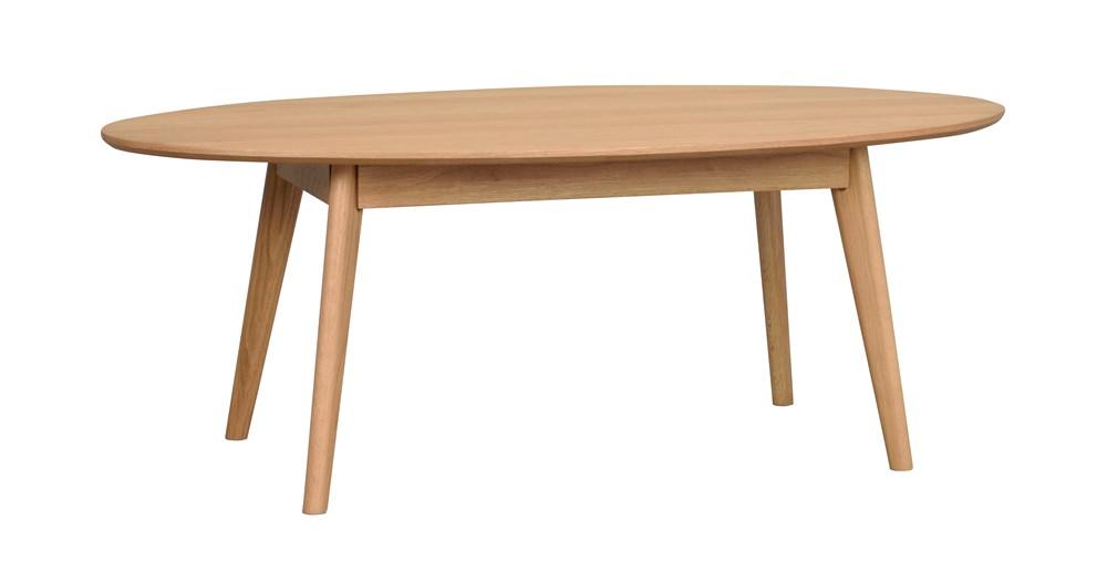 Yumi sohvapöytä ovaali, lakattu tammi