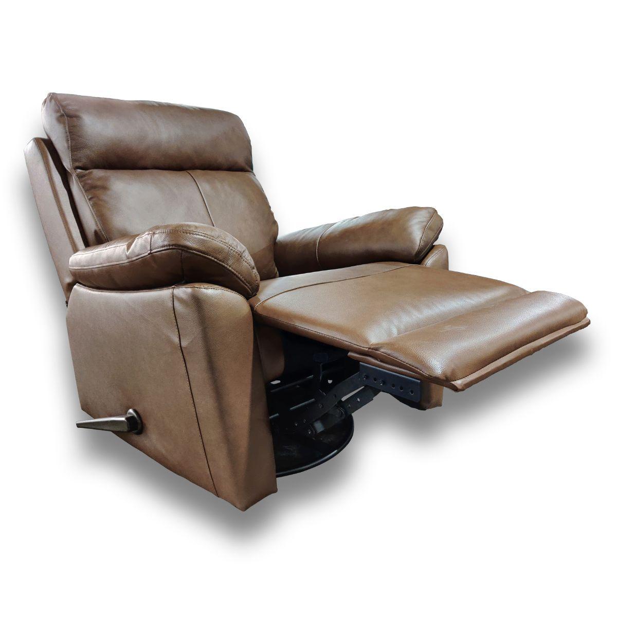 Boss recliner ruskea nahka/keinonahka, Tenstar