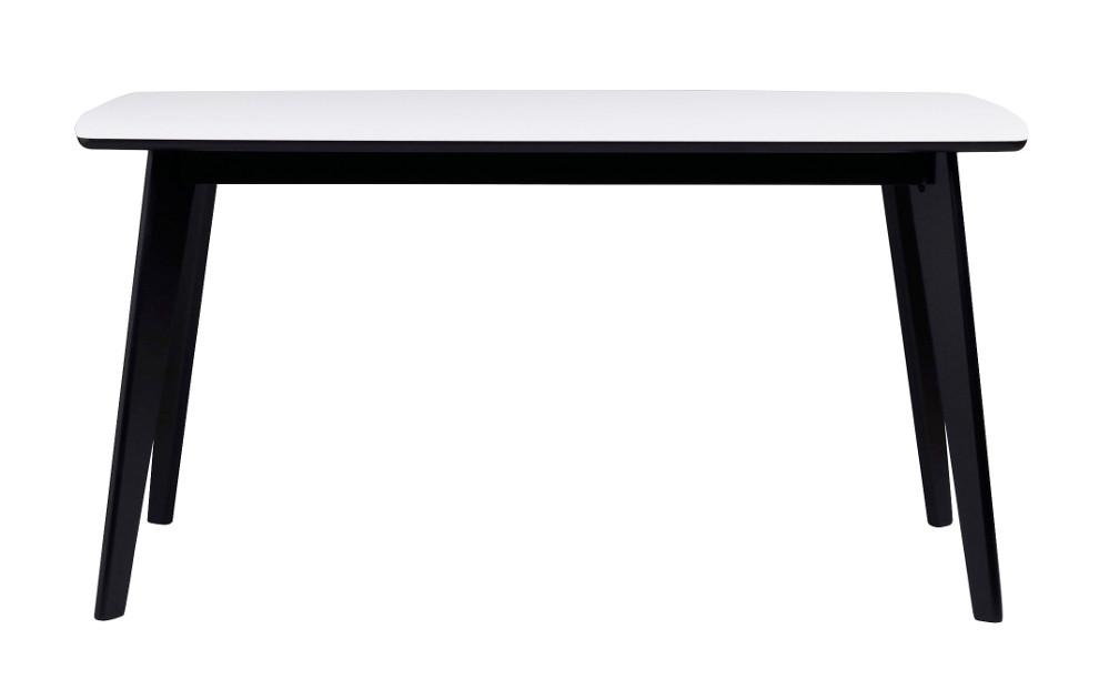 Olivia ruokapöytä 150 valkoinen/musta, Rowico
