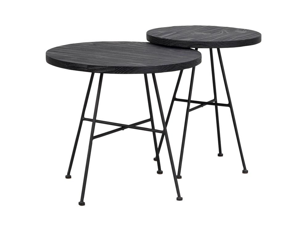 Grafton sarjapöytä Ø50/Ø40 musta/musta metalli, Rowico
