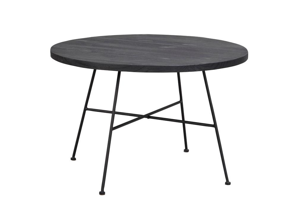 Grafton sohvapöytä Ø70 musta/musta metalli, Rowico