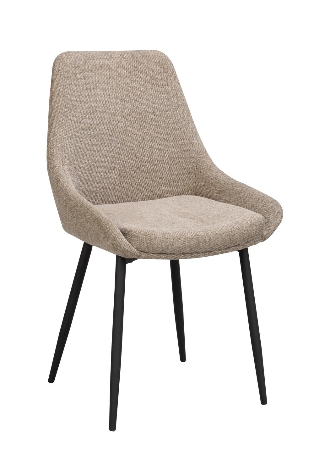 Sierra tuoli beige kangas / musta metalli, Rowico