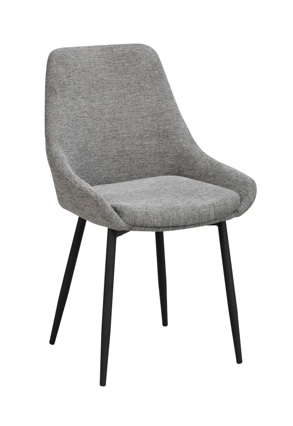 Sierra tuoli harmaa kangas / musta metalli, Rowico