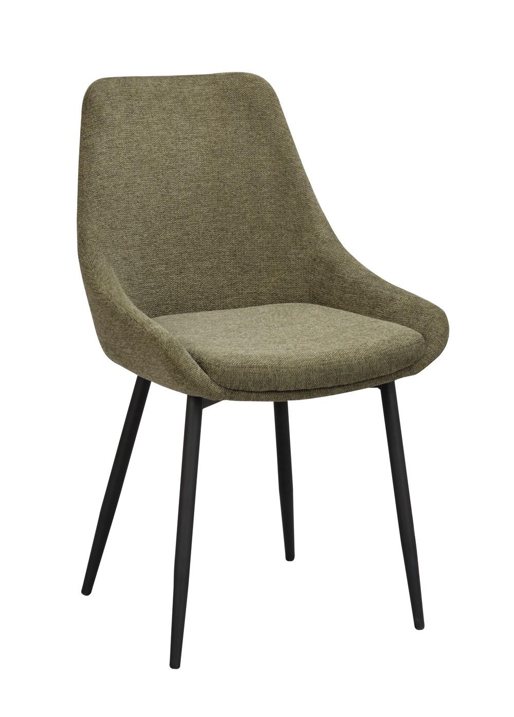 Sierra tuoli vihreä kangas / musta metalli, Rowico